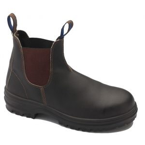 BLUNDSTONE 140 Stout Brown Slip On Safety Boots140Brown