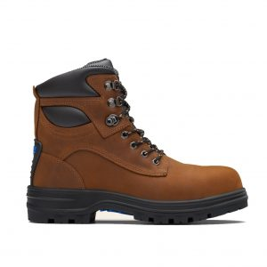 BLUNDSTONE 143 UNISEX LACE UP SERIES SAFETY BOOTS - CRAZY HORSE