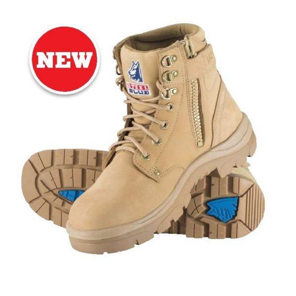 312152 Steel Blue Argyle Zip Safety Boots Sand