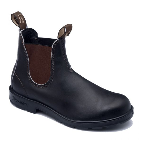 Blundstone 500 Slip On Non Safety Boots Stout Brown-0