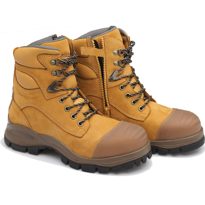 4d5caa252b1 Blundstone 992 Lace with Zip & Scuff Safety Boots Wheat