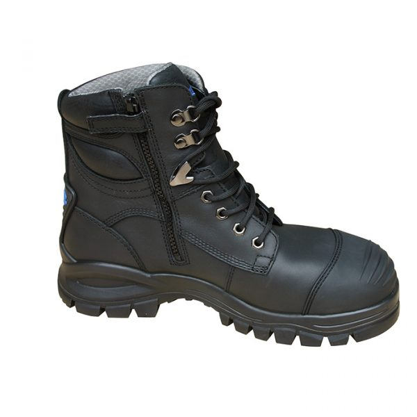 Blundstone 997 Lace with Zip & Scuff Safety Boots Black-0