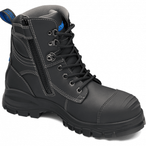 BLUNDSTONE 997 Lace with Zip & Scuff  Safety Boots Black