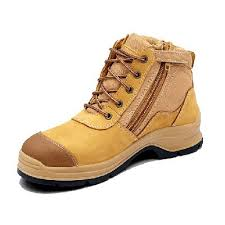 Blundstone 318 Lace up with Zip & Scuff Cap Safety Boot Wheat-0