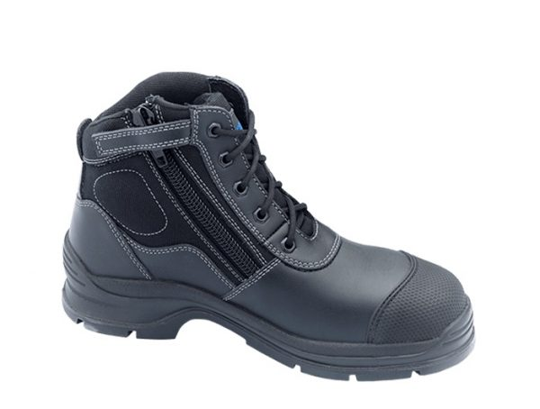 Blundstone 319 Lace up with Zip & Scuff Cap Safety Boot Black-179