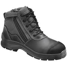 Blundstone 319 Lace up with Zip & Scuff Cap Safety Boot Black-0