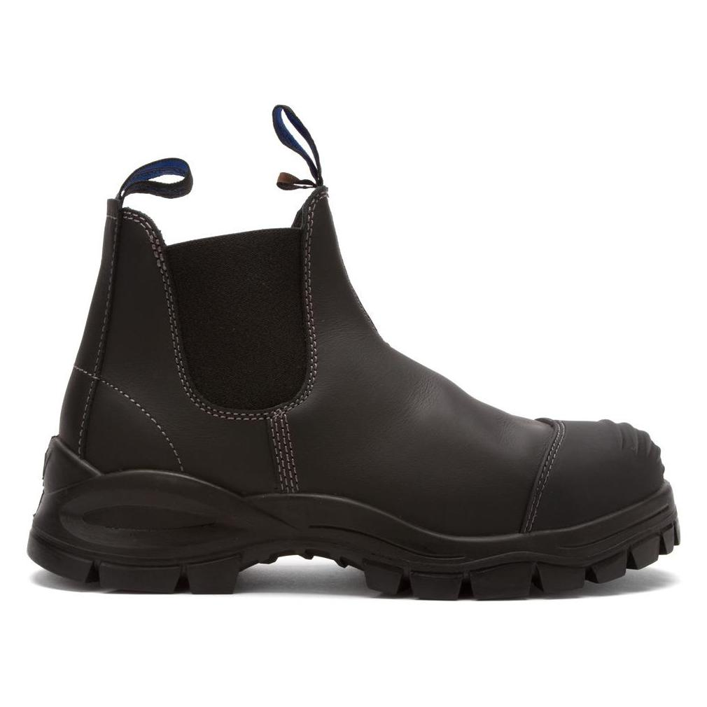 Blundstone 990 Slip On with Scuff Safety Boots Black-0 053d9f4766ef