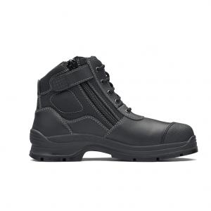 BLUNDSTONE 319 UNISEX ZIP UP SERIES SAFETY BOOTS - BLACK