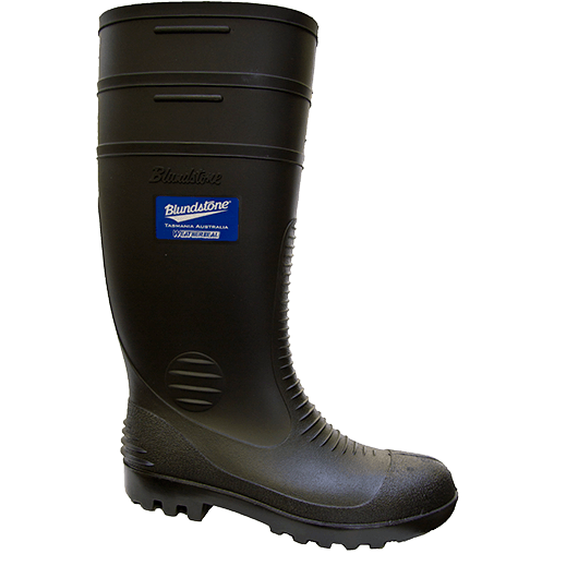 Blundstone Non Safety Gumboots Black 001 (MenBoots)