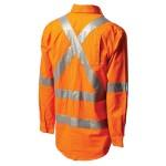 Workit 2017O NSW Rail Hi-Vis Light Weight Cotton Drill Shirt With 3M™ TapeWorkit NSW Rail Shirt 2017O (Workwear Clothing) back