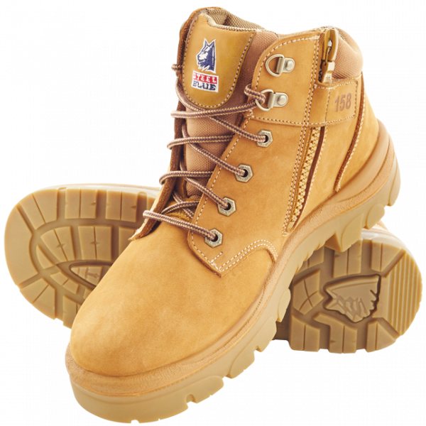Steel Blue Parkes 312158 Zip Safety Boots Wheat-0