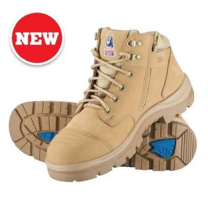 312658 Parkes Zip Steel Blue Safety Boots Sand