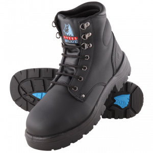 Steel Blue Argyle Met Safety Boots Lace Up Black 312802 (MenBoots)