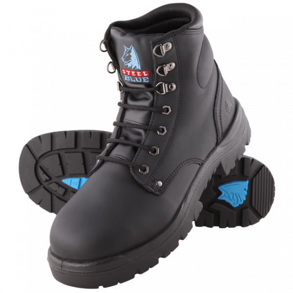 Steel Blue Argyle Met Safety Boots Lace Up Black 312802 (MenBoots)