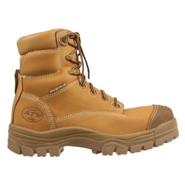 Oliver 150mm Zip Sided Safety Boot Wheat 45-632Z (MenBoots) left