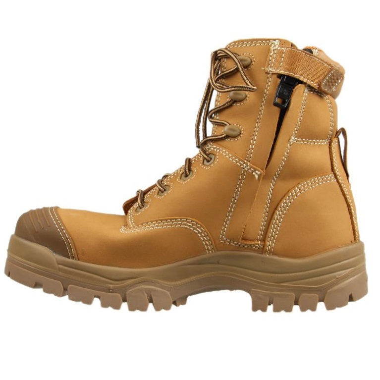 5f6dfddbe09 Oliver 150mm Zip Sided Safety Boot Wheat 45-632Z