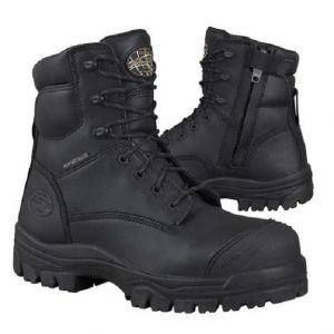 Oliver 150mm Zip Sided Safety Boot Black 45-645Z (MenBoots)