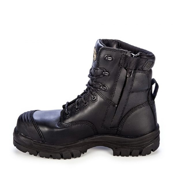 Oliver 150mm Zip Sided Safety Boot Black 45-645Z (MenBoots) right