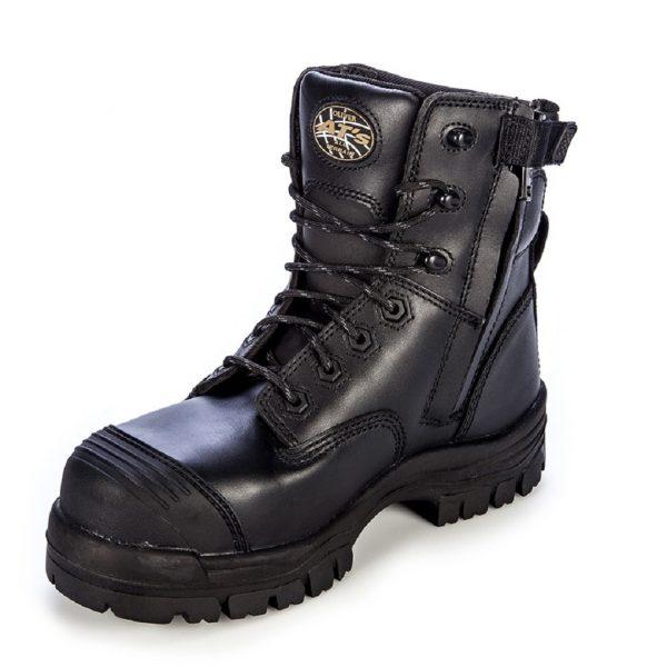 Oliver 150mm Zip Sided Safety Boot Black 45-645Z (MenBoots) 2