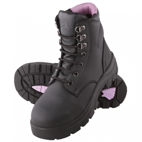 Steel Blue Ladies Argyle 512702 Safety Boots Lace Up-213
