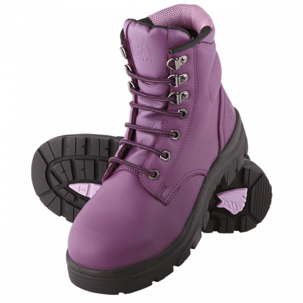 Steel Blue Ladies Argyle 512702 Safety Boots Lace Up-214