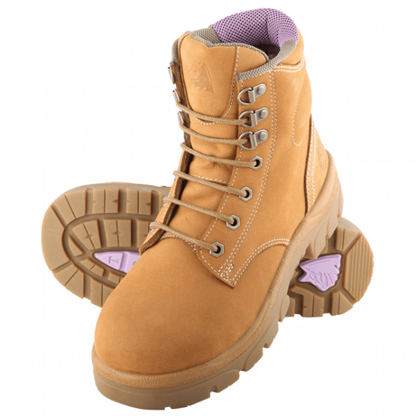 Steel Blue Ladies Argyle 512702 Safety Boots Lace Up-0