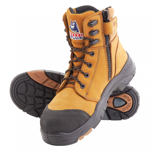 Steel Blue Torquay Zip Side Safety Boots 617539 (MenBoots) Wheat