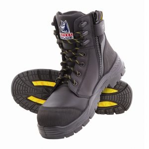 Steel Blue Torquay EH Zip Side Safety Boots Black 827539 (MenBoots)