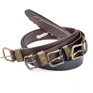 BLUNDSTONE Beltbrn Leather Belt Chocolate Brown
