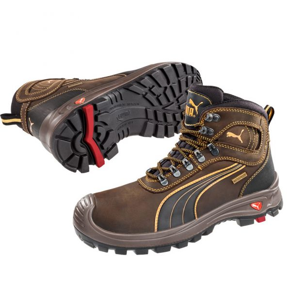 Puma 630227 Sierra Nevada Brown Water Proof Safety Boots-0