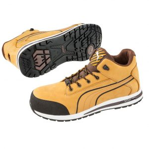 Puma 633187 Dash Safety Shoe WheatCheap work boots Puma Dash 633187