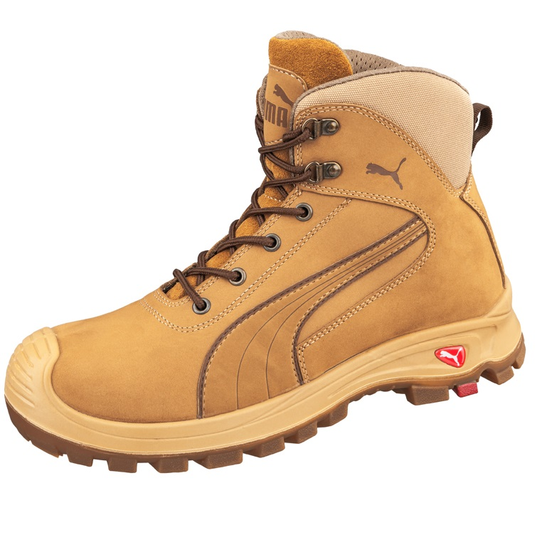 d11d706bba02 Puma 630367 Nullarbor Zip Side Safety Boots Wheat-1180