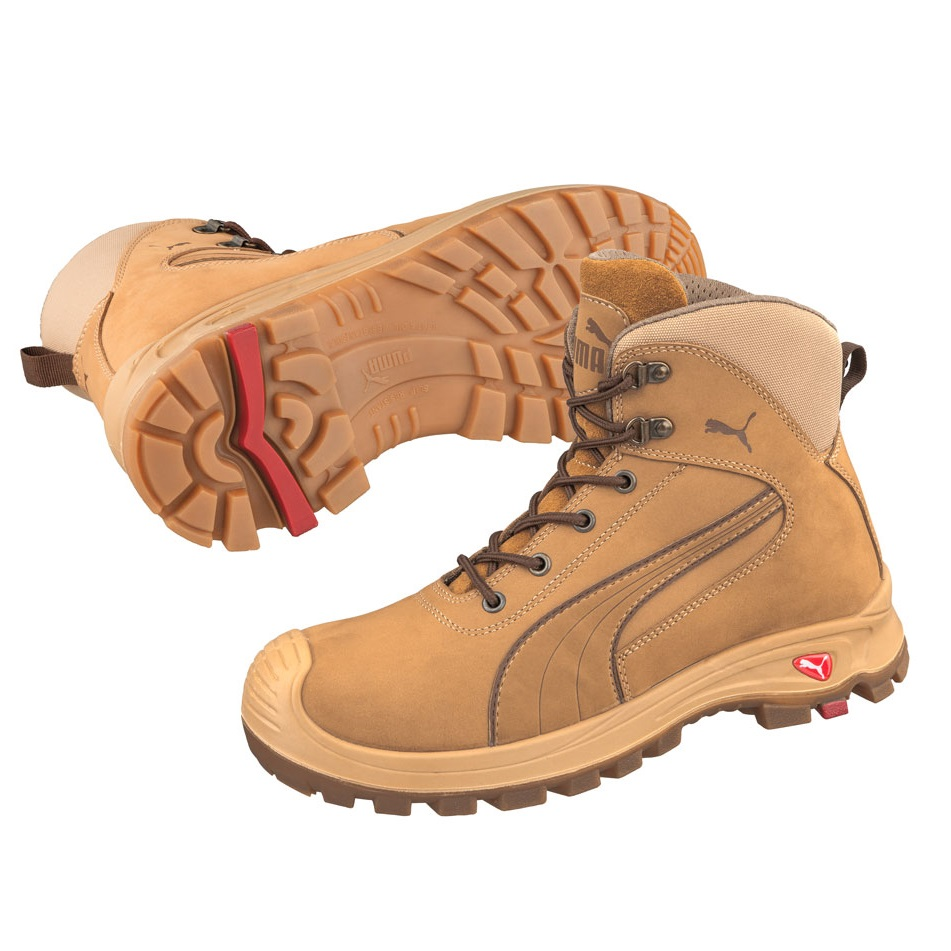 c4db080ce202 Puma 630367 Nullarbor Zip Side Safety Boots Wheat-0