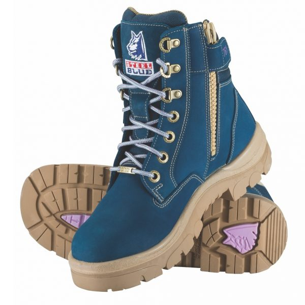 Steel Blue Southern Cross Zip Ladies Safety Boots Blue 512761