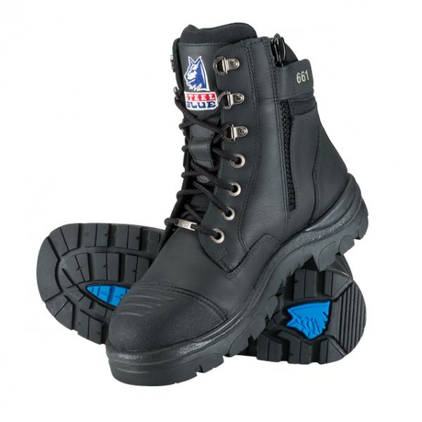 Cheap Work Boots Steel Blue Southern Cross Black 312661