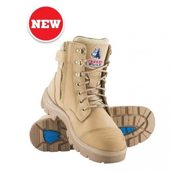 Cheap Work Boots Steel Blue Southern Cross Sand 312661