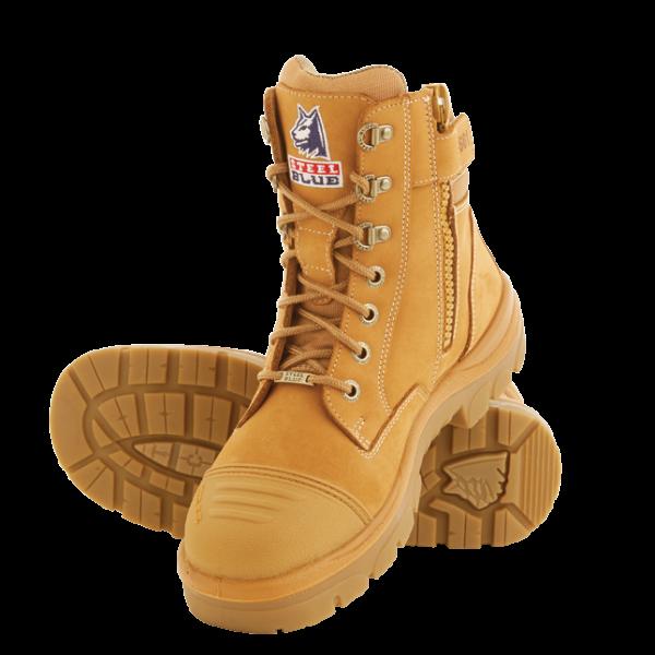 Cheap Work Boots Steel Blue Southern Cross Wheat 312661