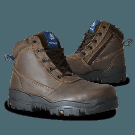 Bata Industrials Horizon Zip Side Safety Boots Brown 756-43960-0