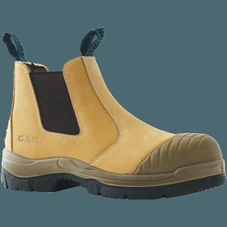 Bata Industrials Worx Slip On Safety Boot-Scuff Cap Wheat 815-80150-0