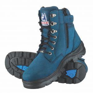 Steel Blue Southern Cross Zip Safety Boots Blue 312361 (MenBoots)
