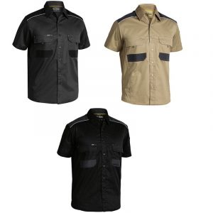 Bisley BS1133 Flex & Move Mechanical Stretch S/Sleeve Shirt