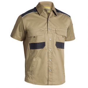 Cheap Work Boots Bisley Shirts BS1133 Khaki