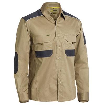 Cheap Work Boots Bisley Shirts BS6133 khaki