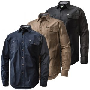 FXD LSH-1 Long Sleeve Tailored Stretch ShirtFXD Long Sleeve Tailored Stretch Shirt LSH-1 (Workwear Clothing Group