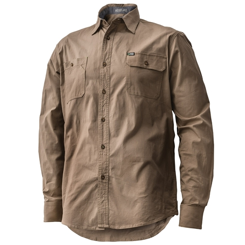 FXD Long Sleeve Tailored Stretch Shirt LSH-1 (Workwear Clothing Khaki