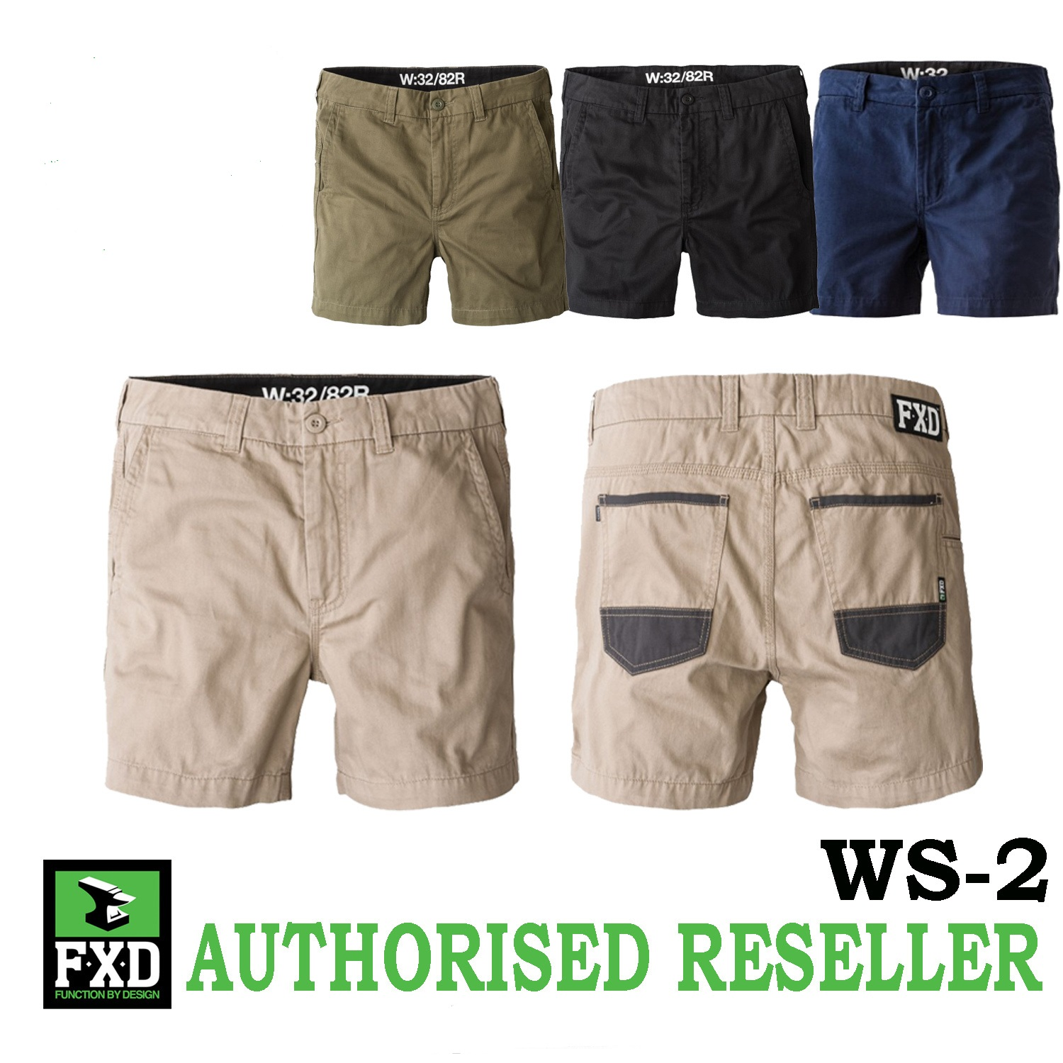 select for newest skate shoes up-to-datestyling FXD WS-2 Shorter Work Shorts