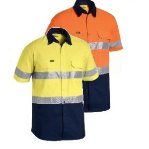 Bisley 3M Taped Hi Vis X Airflow & Ripstop S/Sleeve Shirt BS1415T