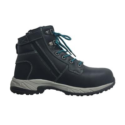 Kingee Ladies Tradie Zip Black Safety Cheap Work Boots K27370 I