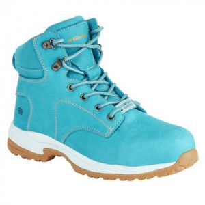 KingGee K273 Ladies Tradie Zip Safety BootKingee Ladies Tradie Zip Teal Safety Cheap Work Boots K27370 A