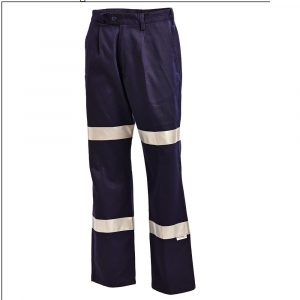 Workit 1011 Cotton Drill Pants Twin Hoop 3M™  Tape1011N-cheap work boots workit workwear Hi-Vis Navy pants 2 hoop